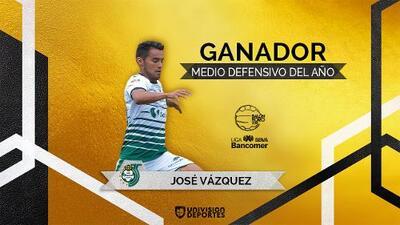 José Juan Vázquez: ganador del Balón de Oro al Mejor Medio Defensivo