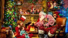 Un hermoso encuentro con Santa Claus