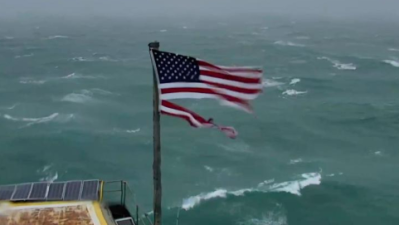 Esta bandera resistió la furia del huracán Florence, ahora está siendo subastada por miles de dólares