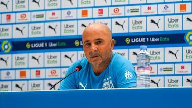 Jorge Sampaoli fue presentado como nuevo técnico de Marsella