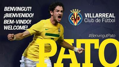Villarreal confirma fichaje del delantero brasileño Alexandre Pato
