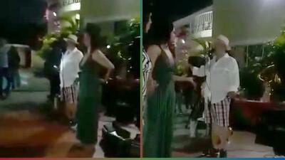 (Video) Anunció que su esposa era infiel con el papá de su mejor amigo en reunión familiar