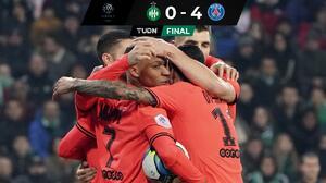 Mbappé comanda goleada del PSG sobre Saint-Étienne