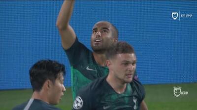 Lucas Moura pone orden y mantiene vivo el Tottenham con su gol