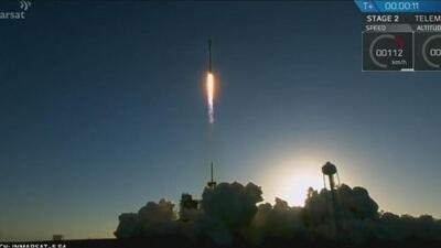 Así despegó el cohete de SpaceX Falcon 9 que lanzó el satélite de comunicaciones Inmarsat