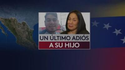 Entregan restos de su hijo a madre de venezolano que murió tratando de cruzar la frontera
