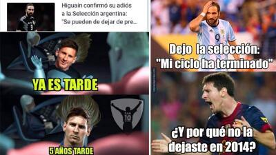 Memelogía: reacciones en redes sociales al retiro de Gonzalo Higuaín de la Selección Argentina