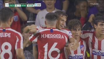 ¡Golazo de Marcos Llorente! con un taquito de lujo abre el marcador a favor del Atlético de Madrid