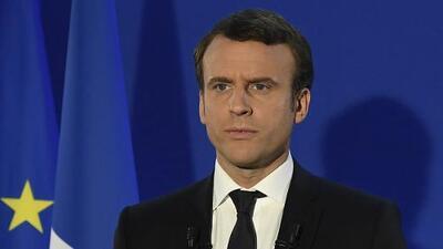 Macron expresa su agradecimiento luego de su victoria electoral