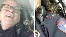 Policía rescata a gatito tras ser abandonado en una autopista de Houston