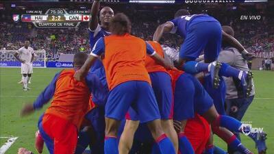 ¡Digno del Puskás! Guerrier anotó el gol de la voltereta para Haití
