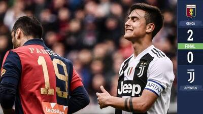 Sin Cristiano Ronaldo, Juventus cae por primera vez en la temporada, ante Genoa