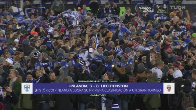 ¡Emotividad total! Locura en Finlandia tras clasificarse por primera vez a la Eurocopa