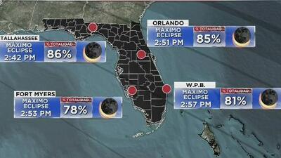 Horarios y puntos clave para ver el eclipse solar 2017 desde diferentes zonas de Florida