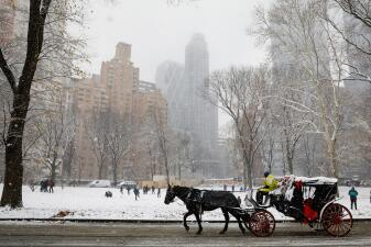 En fotos: Nueva York, Boston y hasta el norte de Florida bajo nieve por la primera tormenta antes del invierno