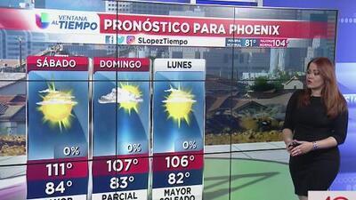 Fin de semana caluroso en Phoenix