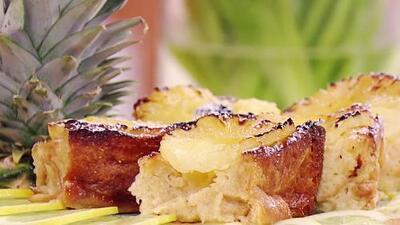 Con sabor latino y delicioso: receta de pudín de pan para celebrar el Día Nacional de la Piña Colada