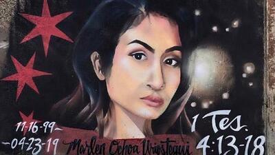 En medio del dolor y los cuestionamientos por el caso de Marlen Ochoa, un artista dedica mural a la joven víctima