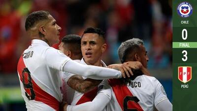 """Perú hace un """"Grecia 2004"""" y es finalista de Copa América a costa de Chile"""