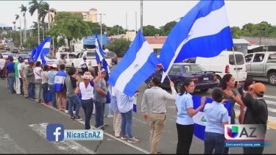 Nicaragüenses en Arizona piden que le devuelvan la paz a su país