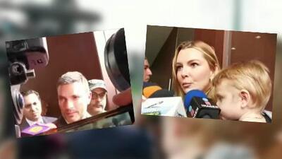 Marjorie de Sousa, Julián Gil y su hijo Matías se encuentran cara a cara en el juzgado