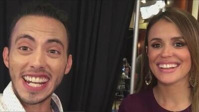 El backstage de los Premios Juventud con Diego Guirado y Carolina Sarassa