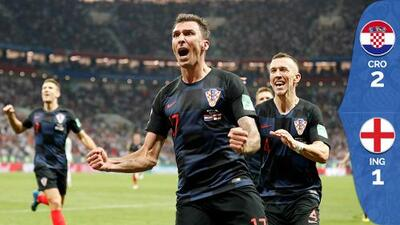 'They're going home': Croacia venció a Inglaterra y se clasificó por primera vez a la final del Mundial