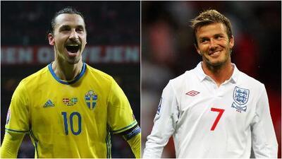 Ibrahimovic y Beckham apostaron para el Suecia-Inglaterra
