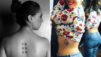 En la espalda, el pie y hasta la cadera: los tatuajes de Mafer Alonso al descubierto