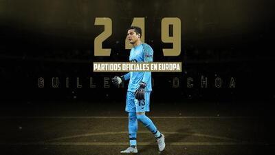 Guillermo Ochoa llegará a 250 partidos en Europa