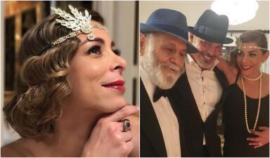 Lourdes Stephen celebró a sus dos primeros amores al estilo de los años 20