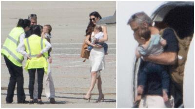 How cute! Estas son las primeras fotos de los gemelos de George y Amal Clooney 😍