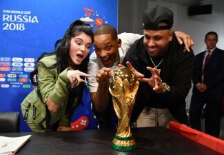 En fotos: Nicky Jam, Will Smith y Era Istrefi listos para la clausura del Mundial de Rusia