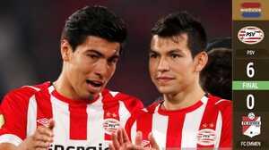 'Chucky' y 'Guti' se vuelven a lucir: goles y asistencias en paliza del PSV sobre el FC Emmen