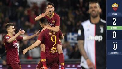 Una victoria clave: Roma ganó y le 'estrenó' el uniforme a la Juventus