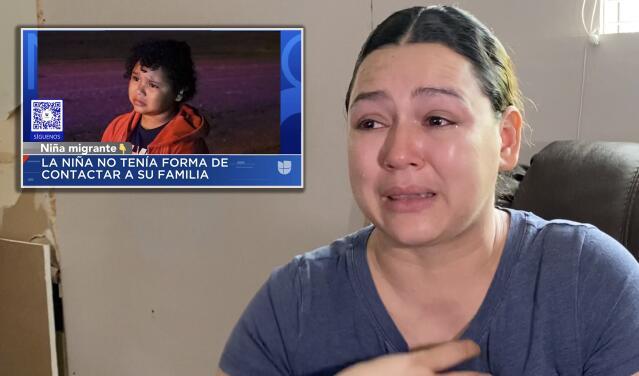 """""""Se me partía el alma"""": Madre de Texas se entera que su hija cruza la frontera al ver su foto en Univision"""