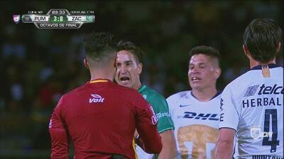 El argentino Julián Cardozo del Zacatepec le dijo de todo al árbitro Adonai Escobedo