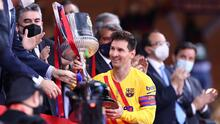 Messi, orgulloso de capitanear al Barcelona en la Copa del Rey