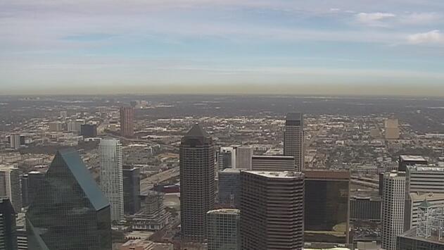 Cielos nublados y vientos calmados durante la tarde de miércoles de Dallas
