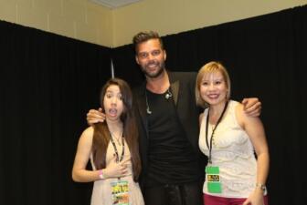 ¡Conocí a Ricky Martin!