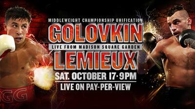 Gana un guante firmado por Golovkin y Lemieux