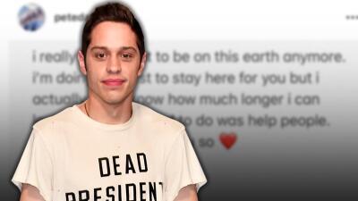Pete Davidson, ex de Ariana Grande, causa alarma al publicar mensaje suicida en Instagram