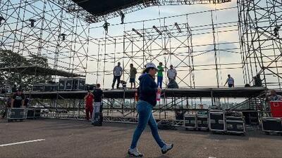 Todo listo para el concierto de solidaridad con Venezuela que se realizará este viernes en Cúcuta