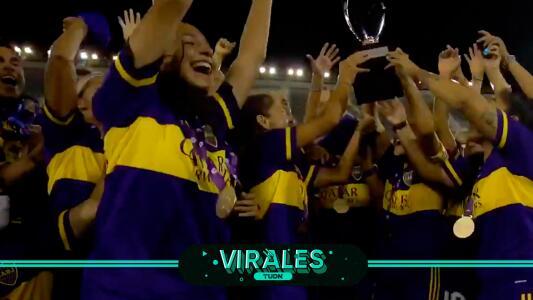 ¡Así fue la celebración del primer título de Boca Juniors femenil!