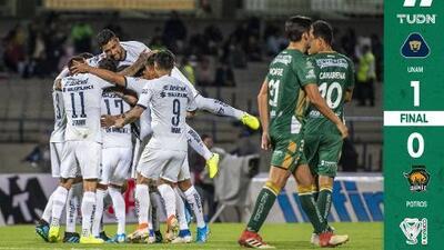 Pumas se llevó la victoria ante Potros con un golazo de Alan Mendoza
