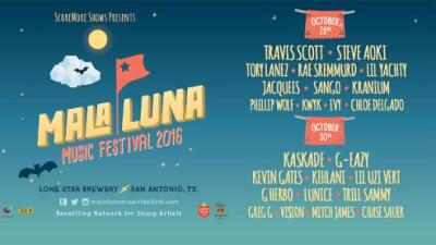 See Steve Aoki, Kaskade, Travis Scott and more at the Mala Luna Music Festival!