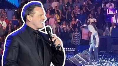 Fan de Luis Miguel sufre aparatosa caída en concierto