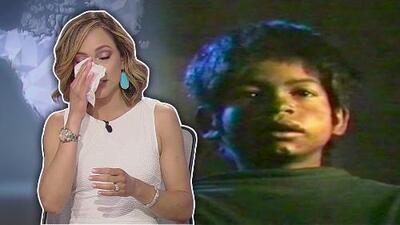 Satcha Pretto llora en vivo con la historia de Javier, un niño que rescataron de la indigencia