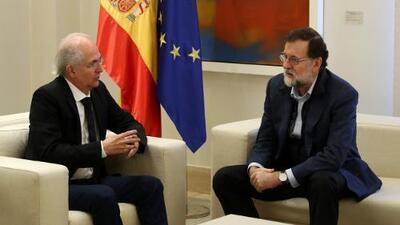 El opositor venezolano Antonio Ledezma llega a España y se reúne con Rajoy