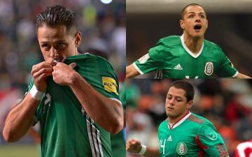 Así ha celebrado 'Chicharito' 50 goles contra 32 países diferentes como goleador del 'Tri'